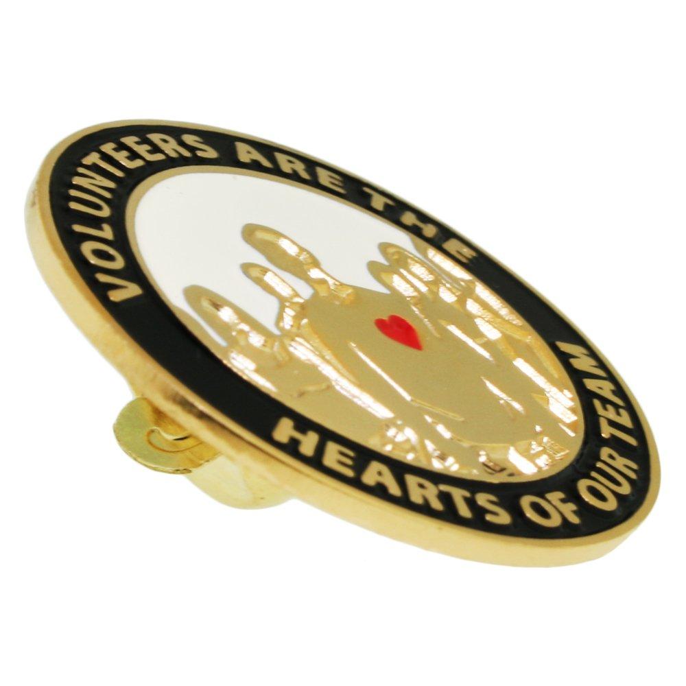 PinMart Volunteers are Hearts of The Team Enamel Lapel Pin