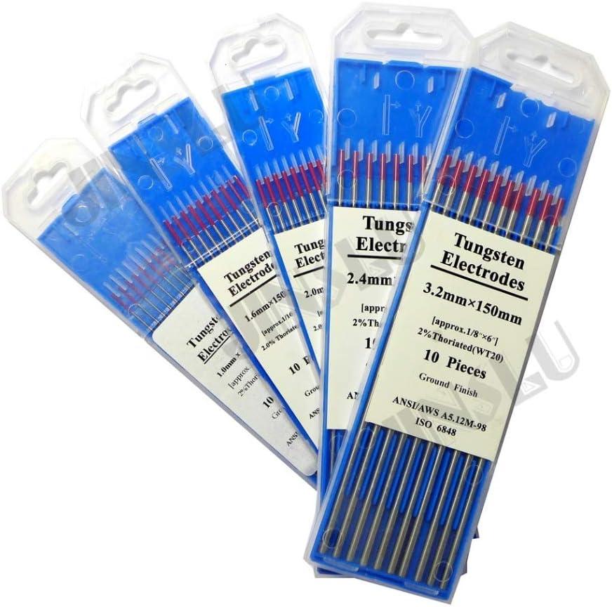 2.0mm WC20 Grey 1.0Mm - 4.0Mm Welding Tig Tungsten Electrode 150Mm 16Inch Wt20 Wc20 Wl15 Wl20 Wp Wz08 Wy20