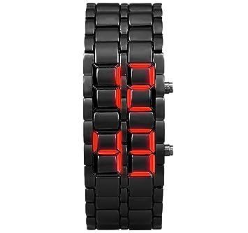 GreatFun relojes clásicos LED relojes digitales metal pulsera relojes de cuarzo relojes hora hombres mujeres: Amazon.es: Hogar
