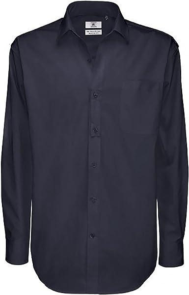 B&C - Camisa de Manga Larga de algodón