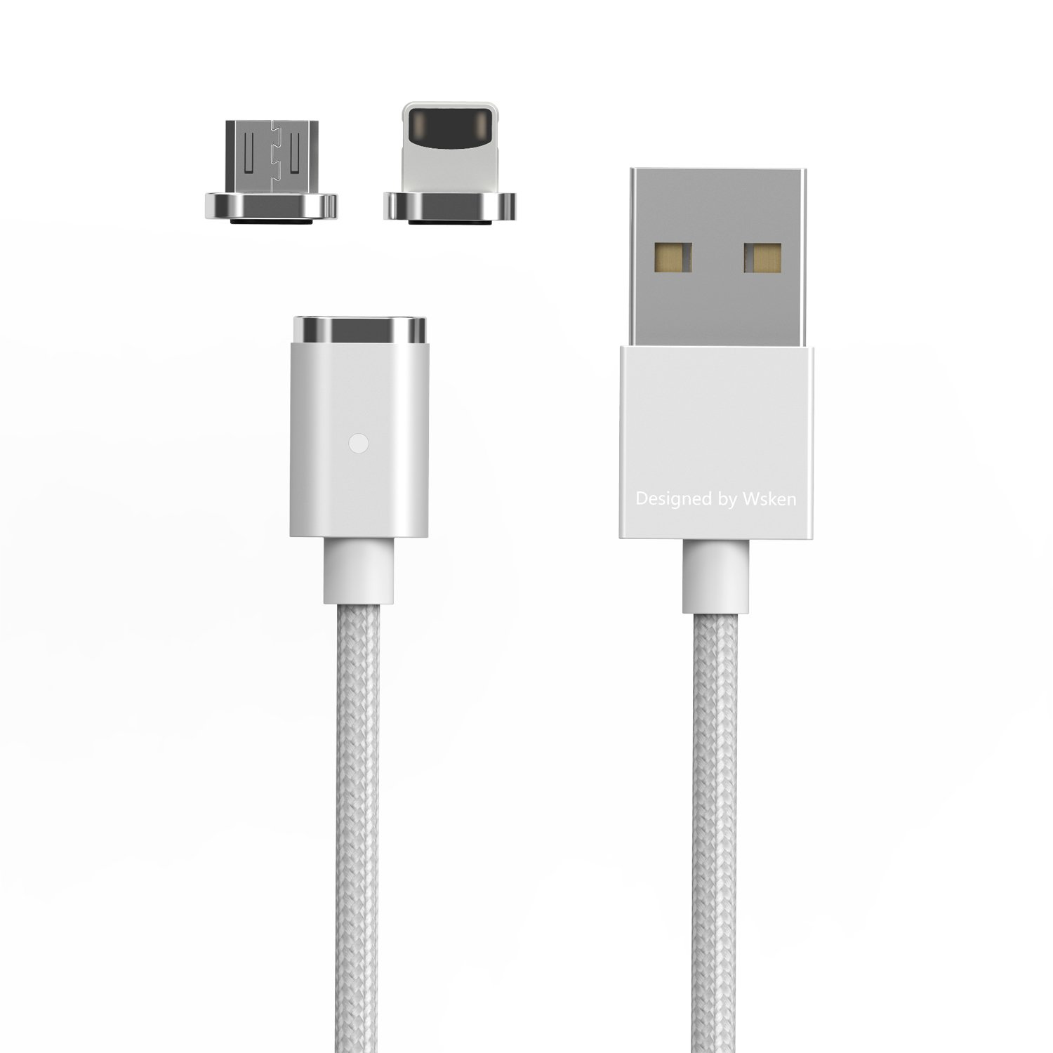 357ac77bac6a76 USB Magnetic Fast Charging Cable – Wsken Mini2 6.56ft Micro USB Charge  Cable Data Sync Transmission Cord with LED Indicator Display for Android  Smart Phones ...