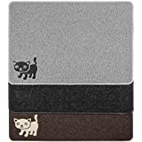 BPA Free Premium Cat Litter Mat - Extra Large - Best Quality Kitty Litter Catcher with 9-TM Scatter Control - Urine Proof - Soft Rug for Cats Paws - Light Gray Color (Patent Pending)