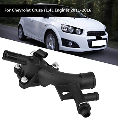 Cuque Engine Coolant Thermostat Housing Assembly for Chevrolet Cruze 2011 2012 2013 2014 2015 2016 Cruze Limited 2016 25193922 1.4L Engine 1.4L Engine