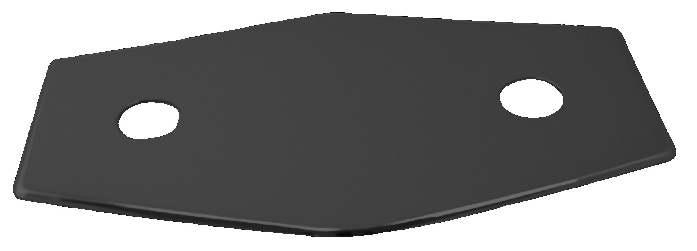 Westbrass Two-Hole Remodel Plate, Matte Black, D504-62 by Westbrass