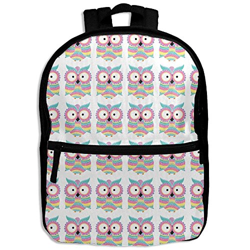 Colorful Ornaments Owl Print Toddler Boys Girls Shoulder Backpacks School Bag (Bear Grylls Halloween Costume)