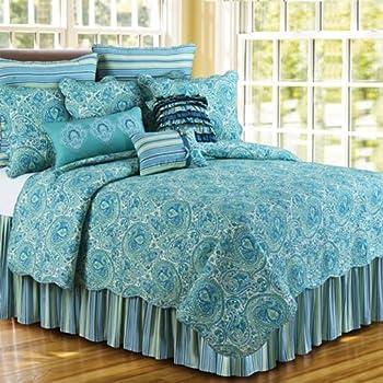 Amazon.com: Cora Blue Quilt, King Size, 108x92: Home & Kitchen