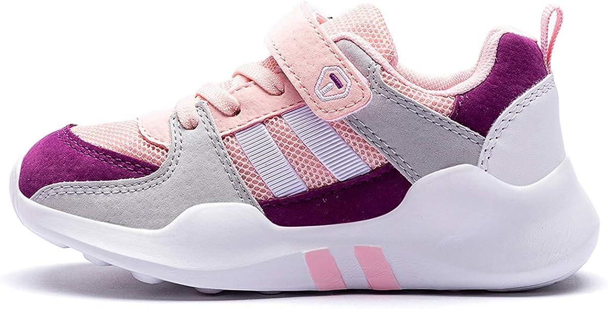 Chaussures de Sport Fille 33 Enfants Basket Junior Running Walking Shoes Unisexe Chaussures Athl/étiques Outdoor Chaussure de Course Mode Respirant en Salle Comp/étition Entra/înement Chaussures Rose
