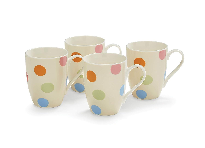 Cooksmart Spots Mugs, Multi, Set of 4 8753