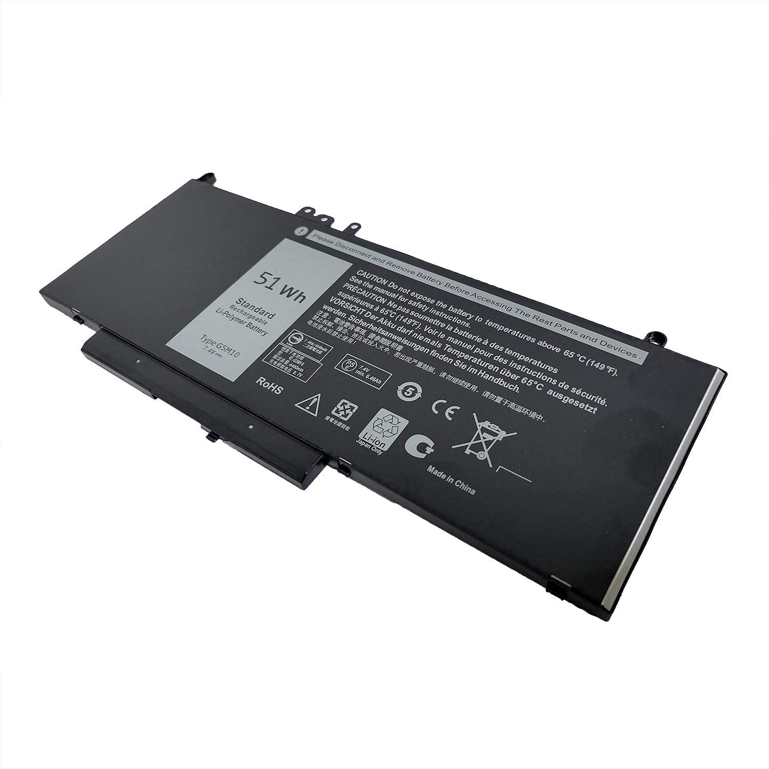 FLIW G5M10 Replacement Battery Compatible with Dell Latitude E5450 E5550 Notebook 15.6