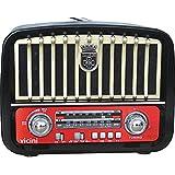Rádio Portátil Vicini AM/FM/SW com Entradas USB, SD e Auxiliar Retrô VC-281