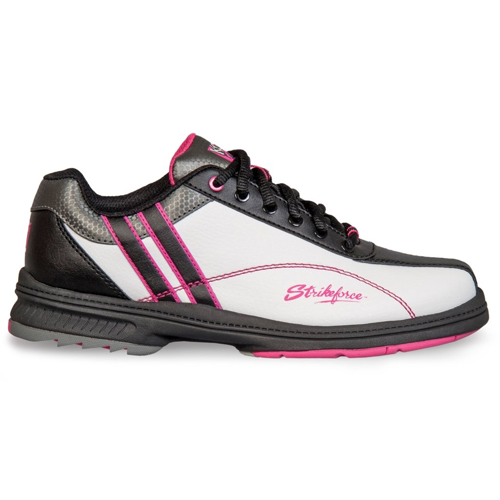 KR Strikeforce L-900-100 Starr Bowling Shoes, White/Black/Pink, Size 10 by KR Strikeforce