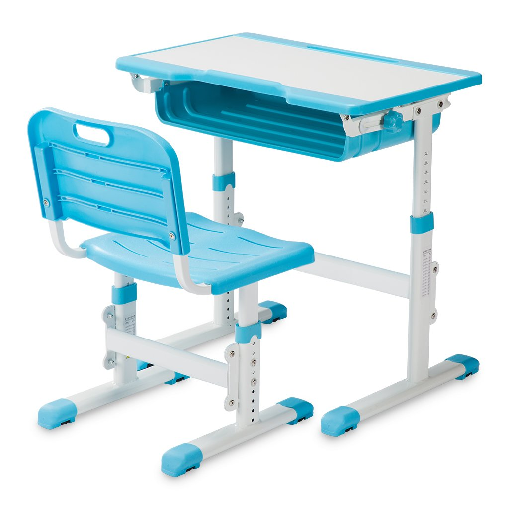 Slypnos Ergonomic Adjustable Children's Desk and Comfortable Chair Set Specially Designed for Children Age 3-14, Blue by Slypnos (Image #9)