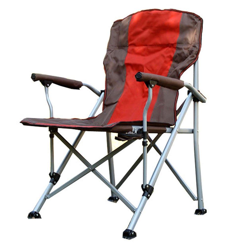 HM&DX 携帯便利 折り畳み式のアウトドアの椅子,コンパクト キャンプ 椅子 ヘビーデューティ と リンクホルダー アームレスト ビーチチェア の 重い人 ビーチ ハイキング B07CXSB6YN  B