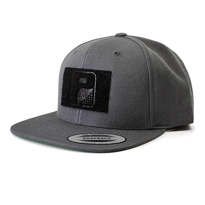 2c079130cd1 Image Unavailable. Image not available for. Color: Pull Patch Tactical Hat  Authentic Snapback, Dark Grey Premium Flat Bill Baseball ...