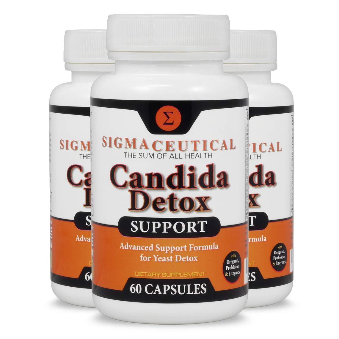 3 Pack of Candida Cleanse - Yeast Infection Treatment - Oral Thrush Treatment for Adults - Non-GMO Oral Thrush Medicine and Thrush Mouth Treatment - Yeast Cleanse - 60 Capsules by Sigmaceutical
