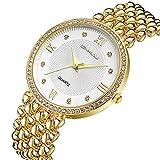 MODIWEN Diamond Luxury Women Dress Watches Golden Silver Woman Causal Waterproof Wristwatch Bracelet