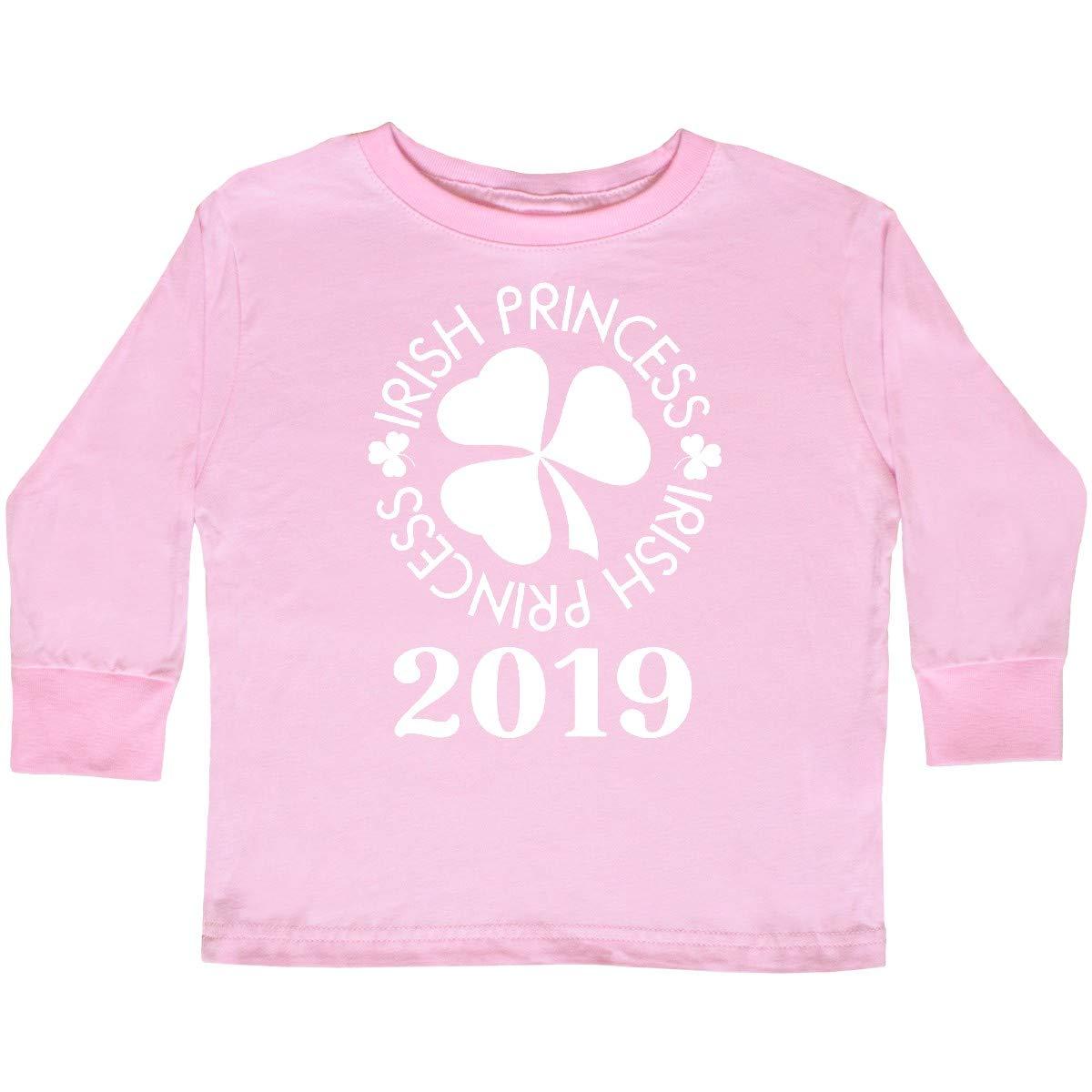 inktastic Irish Princess 2019 St Patricks Toddler Long Sleeve T-Shirt