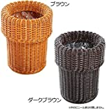 Comolife 100% Natural Rattan Simple Trash Can , Size : Ø 9.05 x 12.99 Inch , Brown