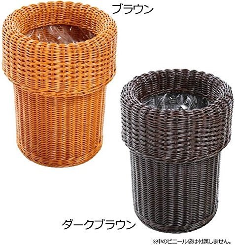 Comolife 100% Natural Rattan Simple Trash Can , Size : Ø 9.05 x 12.99 Inch , Brown by Comolife