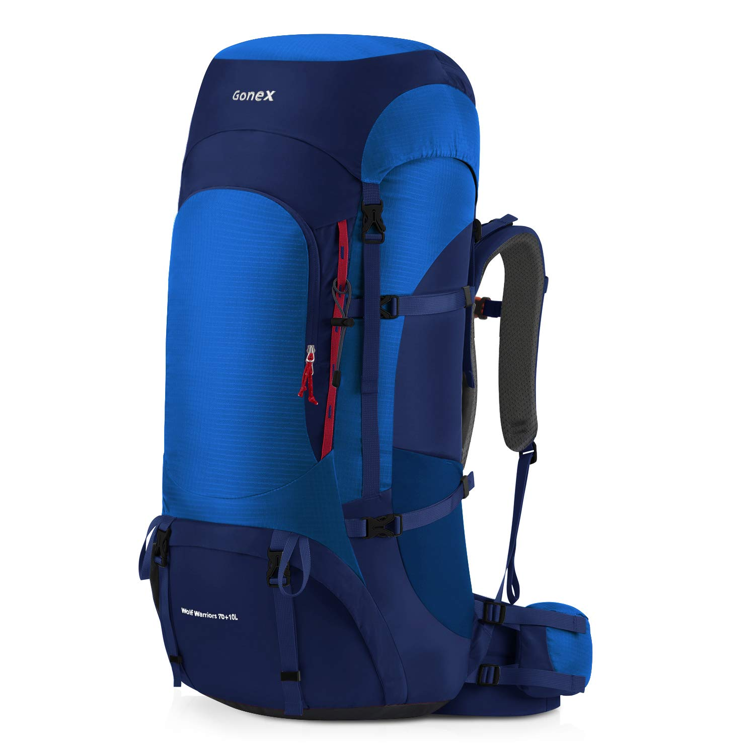 blueee Gonex 70L 80L Internal Frame Backpack for Backpacking Hiking Traveling Mountaineering Rain Cover Included