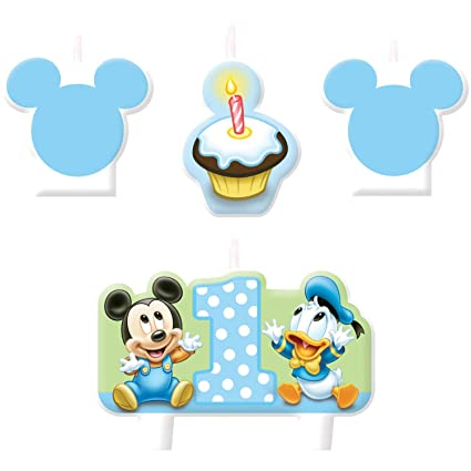 Amazon.com: American Greetings de Mickey Mouse 1st velas de ...