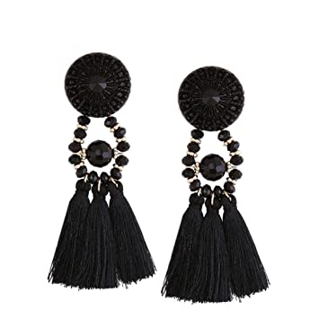 2017 New Vovotrade®Women Fashion Tassel Earrings Jewelry Bohemian Earrings Long Fringe Dangle 2FJHVk