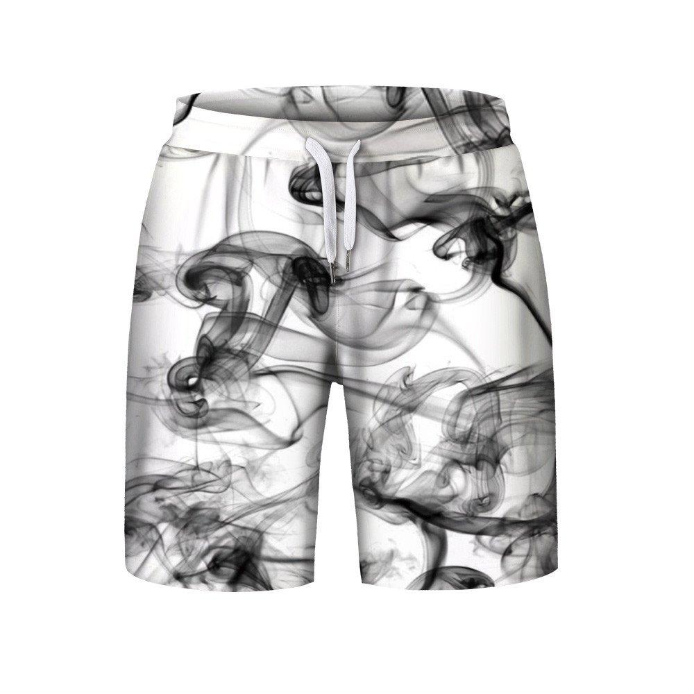 Vine/_MINMI Casual Shorts Printing Trunks Elastic Overalls Fitness Apparel Clothing Men Beach Surfing Running Pants