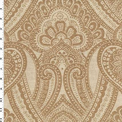 Amazon.com: Sand/Beige Paisley Jacquard Home Decorating ...