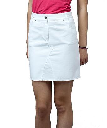 Souvenir-Fashion - Falda - Lápiz - para Mujer Blanco Blanco 48 ...