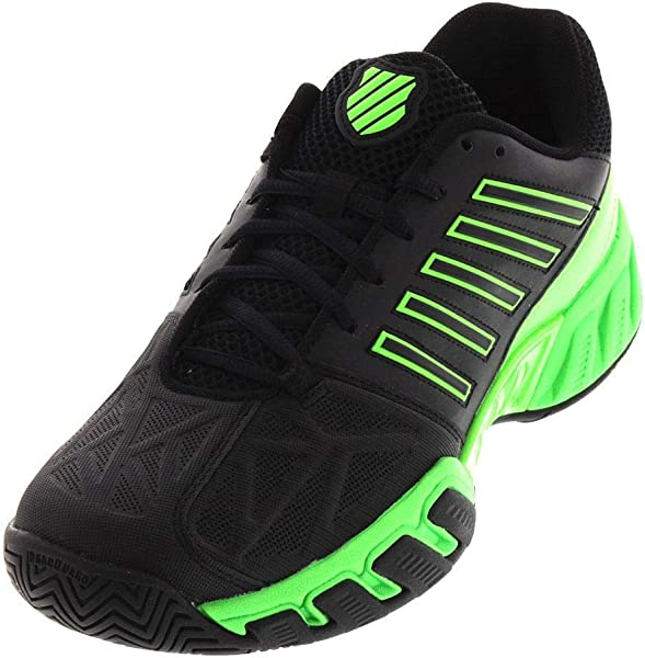 accf72644de8 K-Swiss-Men`s Bigshot Light 3 Tennis Shoes Black and Neon Lime