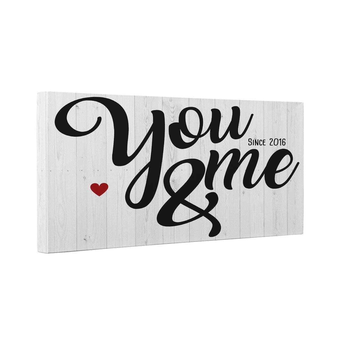 You and Me Since Year Canvas Wall Art