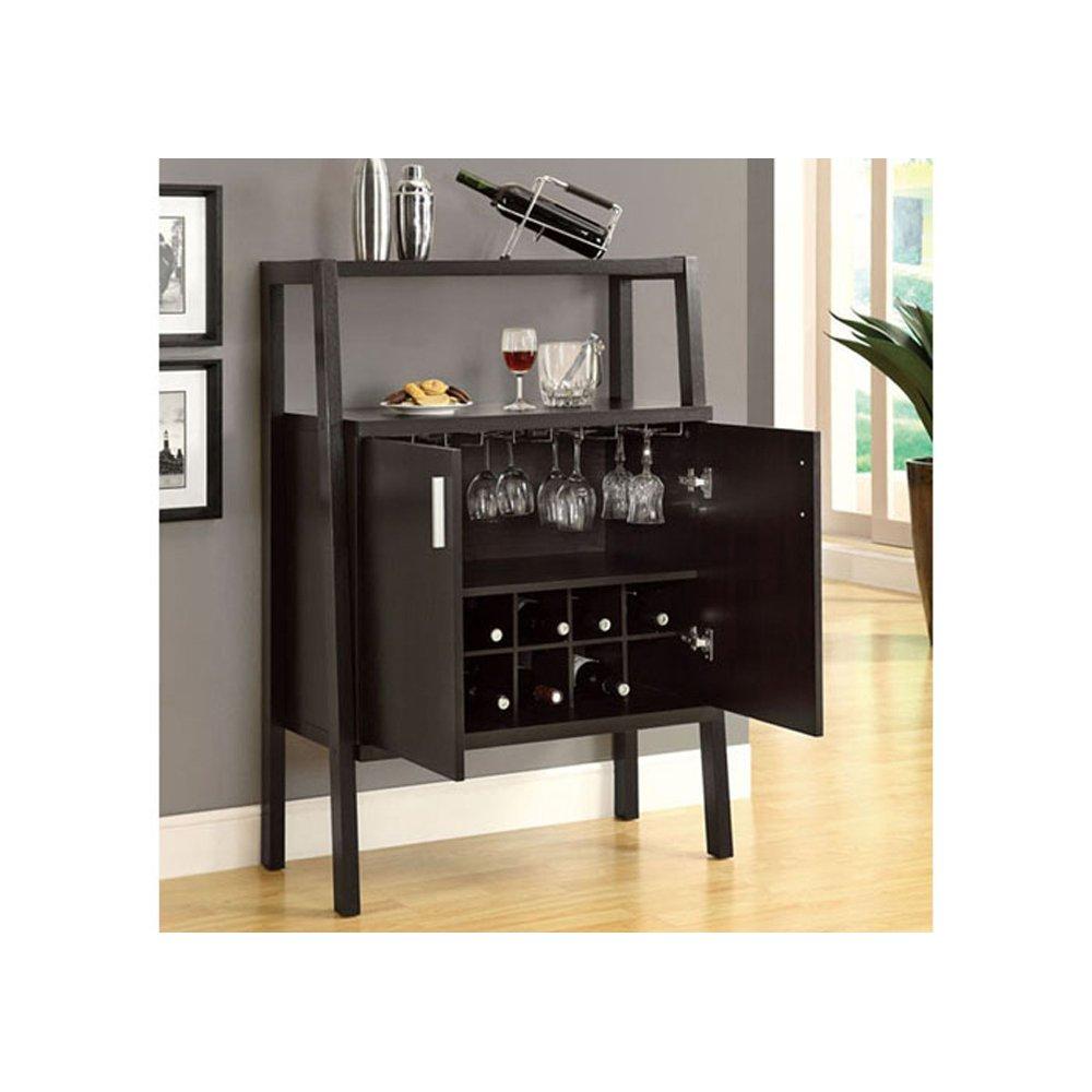 Monarch Specialties 2544 48 Inch Bar Unit W/ Bottle U0026 Glass Storage In  Cappuccino: Amazon.ca: Home U0026 Kitchen
