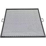Sunnydaze X-Marks 40 Inch Square Fire Pit Cooking Grill