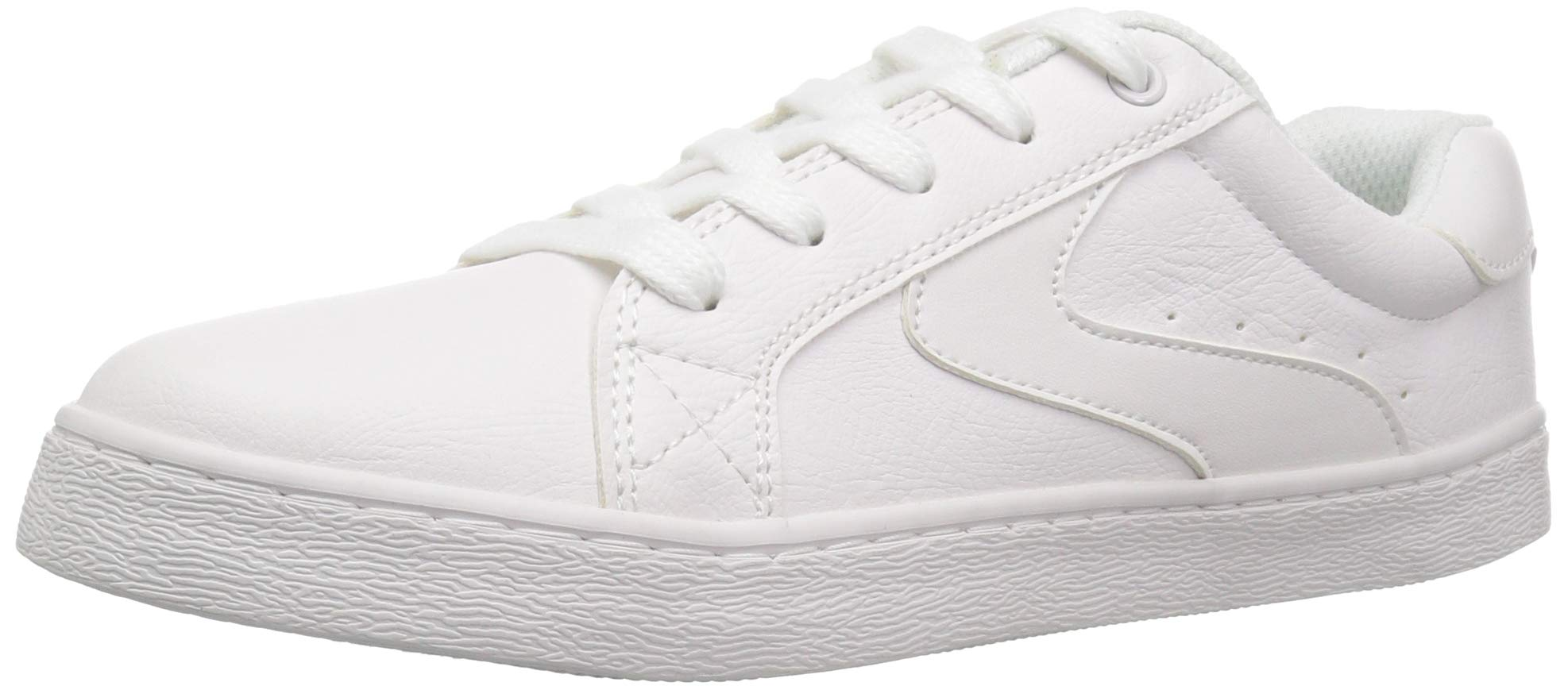 The Children's Place Boys' Low Top Sneaker, White, Youth 3 Child US Little Kid