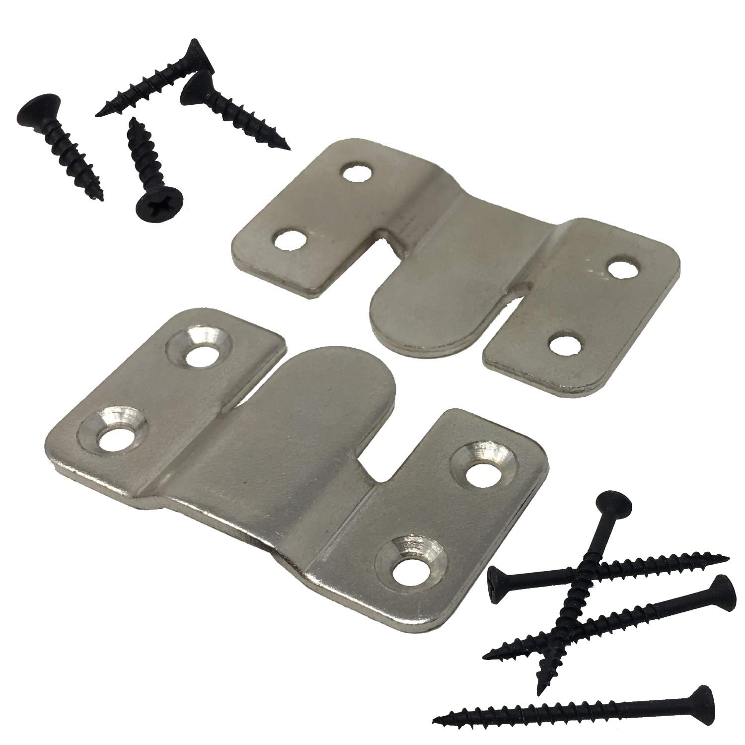 Interlocking Z Clips for Flush Mounting Pictures, Head Boards, Wall Panels - 10 Sets