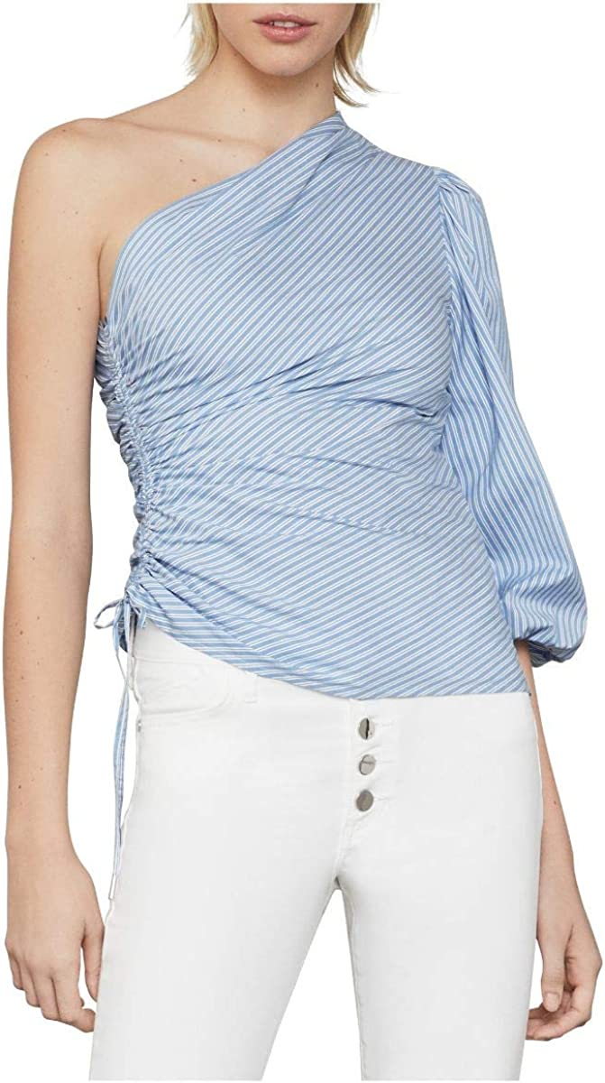 BCBGMAXAZRIA Women's Ruched Poplin Top