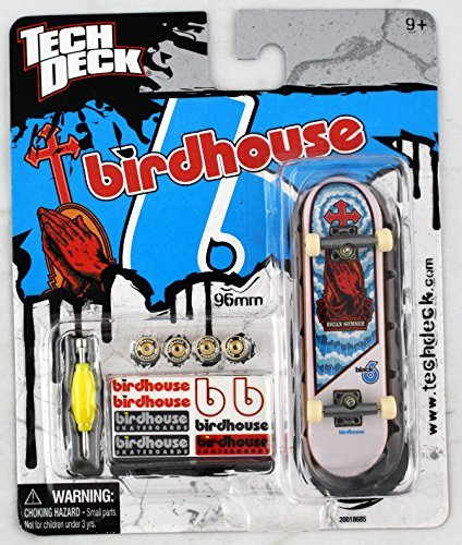 1 TECH DECK 96mm FINGERBOARD - BIRDHOUSE BOARD (Blue/White/Red) - Retired - New by Birdhouse (Tech Deck Birdhouse)