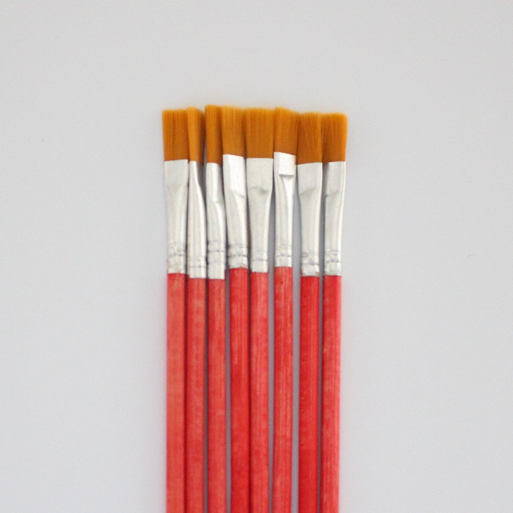 10 pcs NO.2 red Wool Brush,sweep gold leaves,Good quality wool brush,soft, a good tool for gilding leaves, YongBo