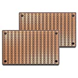PR2H2 (Two-Pack) ProtoBoard-2H-2, 2-Hole Strips, 1 Sided PCB, Size 2 = 100 x 80mm (3.94 x 3.15in)