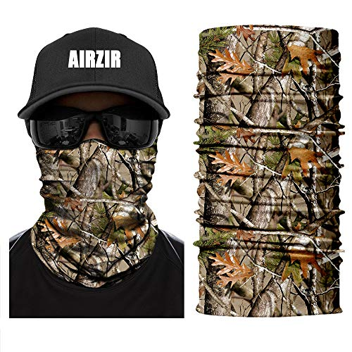Airzir Outdoor Camo Face Mask, Breathable Seamless Tube Dust-proof Windproof UV Protection Motorcycle Bicycle ATV Face Mask for Motorcycling Cycling Hiking Camping Climbing Fishing Hunting(Tcamo-620)