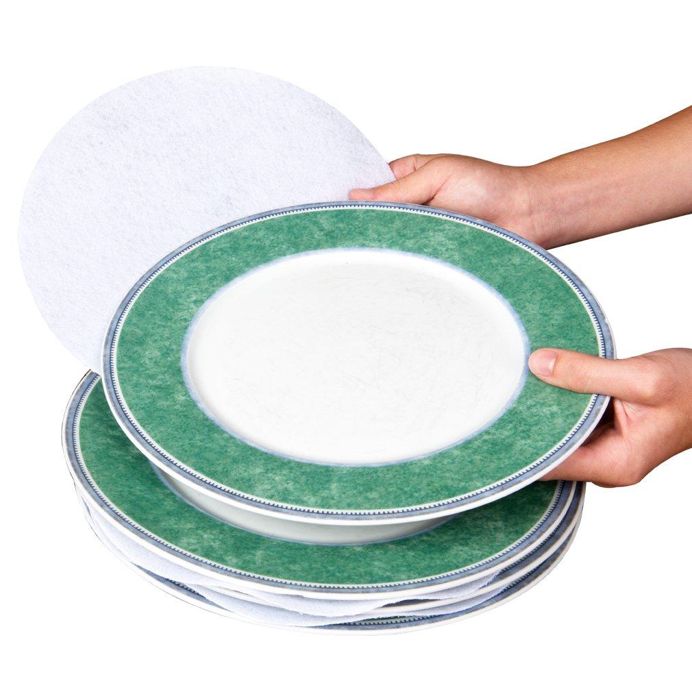 Fine China /& Dish Protectors-Set of 48 Evelots Multi Size Felt Plate Separators