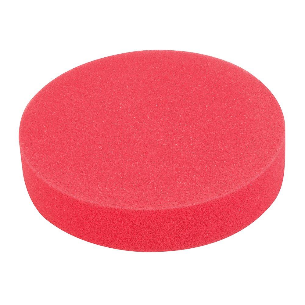 Silverline 295539 - Esponja de pulido autoadherente (180 mm, ultra blanda, rojo)