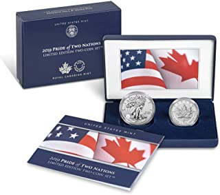 2019 Pride of Two Nations 2-Coin Limited Edition Set (Silver American Eagle and Canadian Maple)
