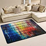 Naanle Art Area Rug 2'x3', Vintage Music Note Polyester Area Rug Mat for Living Dining Dorm Room Bedroom Home Decorative