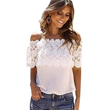 a33ff1ad4fed2 Amazon.com  ONE A DAY 2018 Plus Size Summer Tops Teen Girls Lace Vest Blouse  Casual Tank Top T-Shirt  Clothing