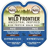 Nutro Wild Frontier High Protein Grain Free Pate Wet Cat Food, Salmon & Trout, 2.65 Oz. (24 Twin Packs) For Sale