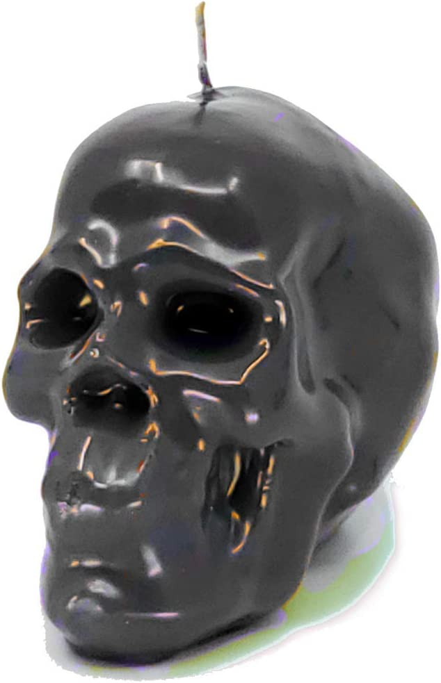 Cursing, Protection, Hexes, Hot Foot, Confusion, Spells, Spellwork /& Ritual Magic Transcendent Candles Black Large Skull Figure Image Candle