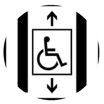 alfombrilla de ratón Ascensor para personas discapacitadas en silla de ruedas sÃmbolo escudo: Amazon.es: Electrónica