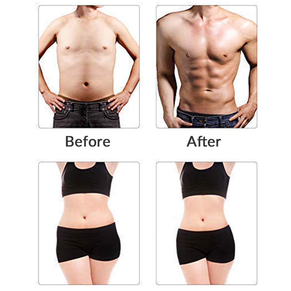 Inshome Abs Stimulator, Muscle Toner Abdominal Training Device for Muscles, Muscle Stimulator at Home Office Workout for Men Women