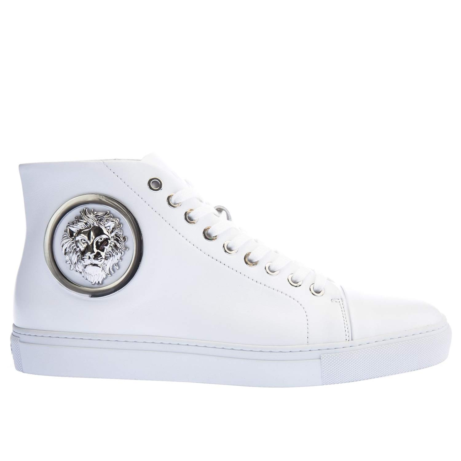 d2151cb3eb Versus Versace High Top Trainer in White: Amazon.co.uk: Shoes & Bags